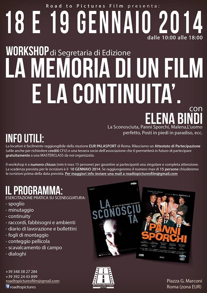 road to pictures film workshop edizione 2014